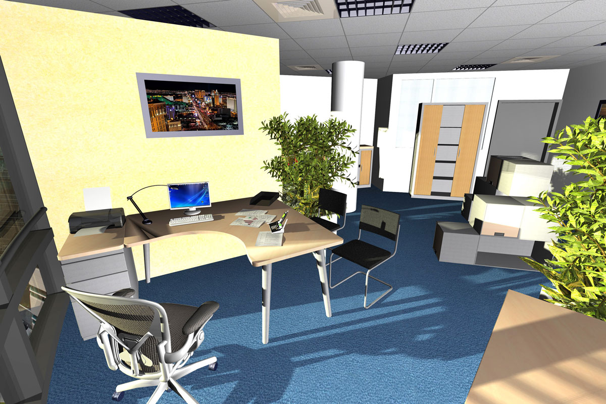 Amenagement bureau 3d for Photo amenagement bureau